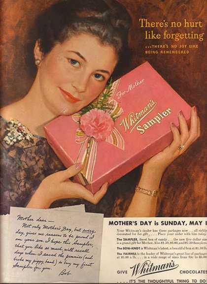 Whitman's Sampler Boxes of Chocolates (1941)