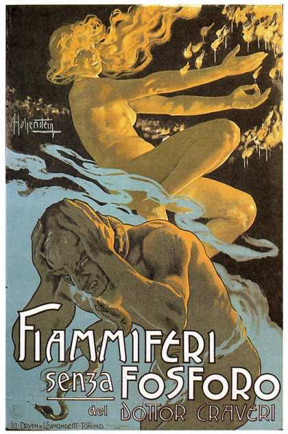 Fiammiferi &#8211; Adolfo Hohenstein &#8211; Italia (1895)