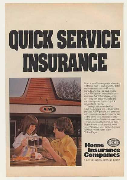 A&W Root Beer Restaurant Home Insurance Comp (1975)