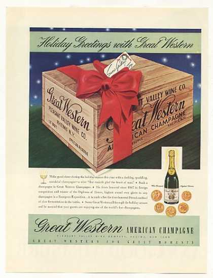 Great Western American Champagne Case (1937)