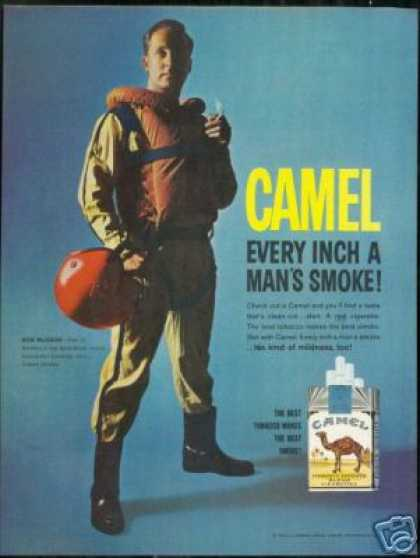 Speedboat Racer Ron Mission Camel Cigarette (1962)