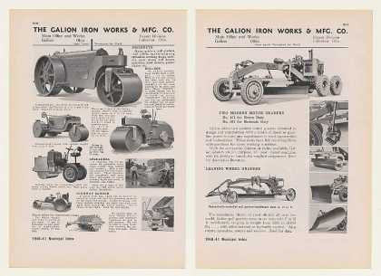 Galion Iron Works Road Rollers Motor Graders 2P (1940)