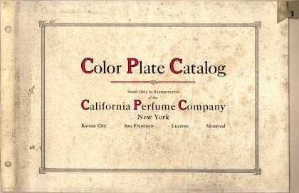 California Perfume Co.'s Perfumes – Color Plate Catalog