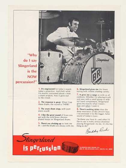 Buddy Rich Slingerland Drums Photo (1968)