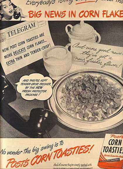 Post's Corn Toasties (1947)