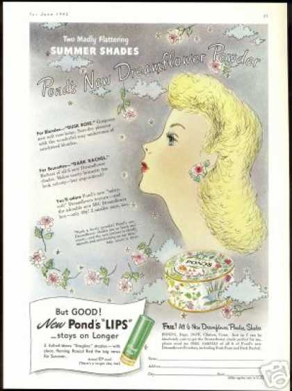 Ponds Dreamflower Powder Art Makeup (1942)