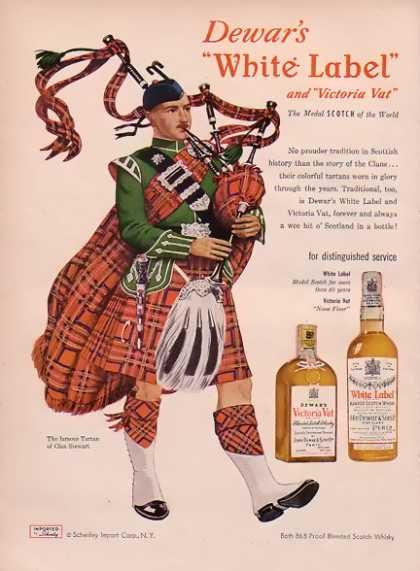 Dewar's White Label – Tartan of Clan Stewart (1948)
