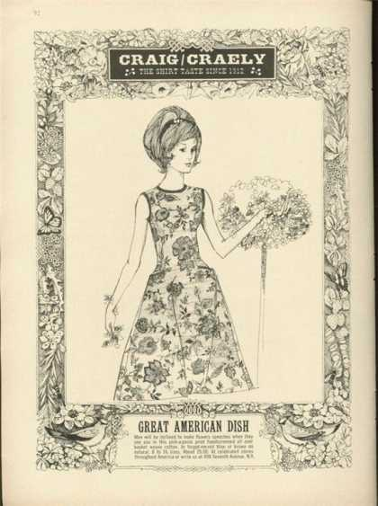 Craig Craely 'great American Dish' Dress (1963)