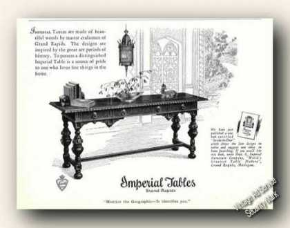 Imperial Tables Grand Rapids Mi Photo (1926)