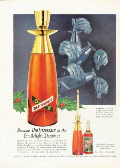Old Fitzgerald Bourbon Candlelight Decanter (1955)