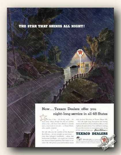 The Star That Shines All Night! Texaco (1941)
