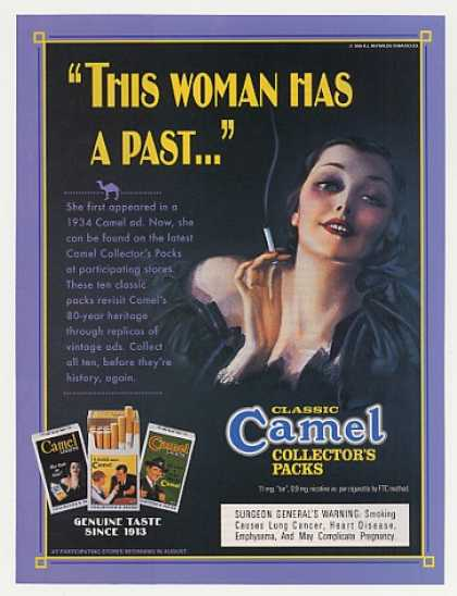 Camel Cigarette Collector's Packs 1934 Lady (1995)
