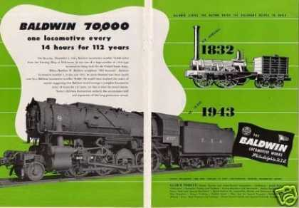 Baldwin Locomotive 2 Page Ad Us Army 2-8-0 #2737 (1944)