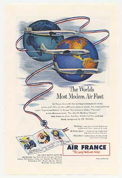 Air France Airlines Most Modern Air Fleet (1953)