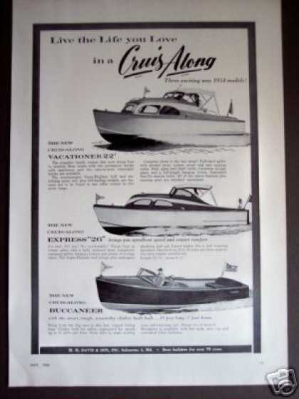 Cruis-along Boats 22', Express 26', Buccaneer (1954)