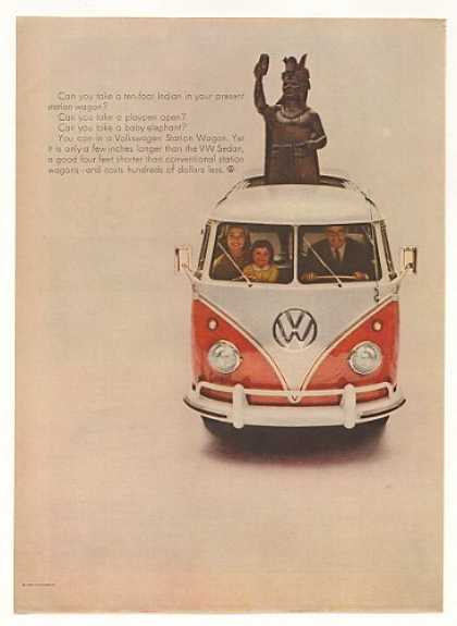 VW Volkswagen Station Wagon Ten-Foot Indian (1960)
