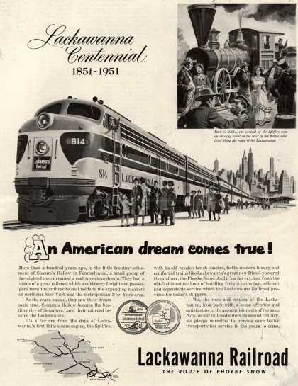 Lackawanna Railroad – Lackawanna Centennial 1851-1951 (1951)