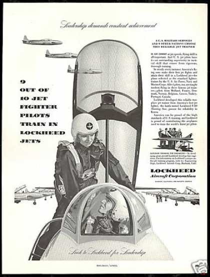 Jet Fighter Pilots Lockheed Aircraft Plane (1952)