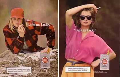 Lucky Strikes – Light my Lucky Gals Set of 2 (1986)