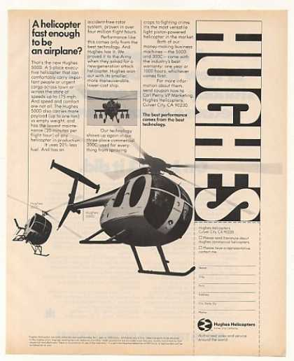 Hughes 500D 300C Helicopter Photo (1977)
