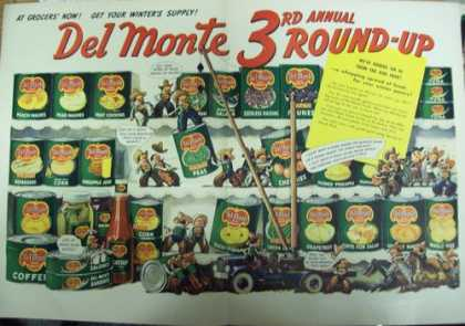 Del Monte Canned Food With Cowboys Print A (1941)