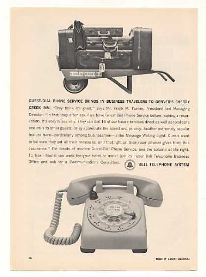 Cherry Creek Inn Denver Bell Guest Dial Phone (1963)