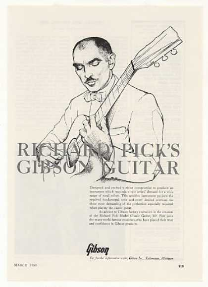 Richard Pick Gibson Classic Guitar (1958)