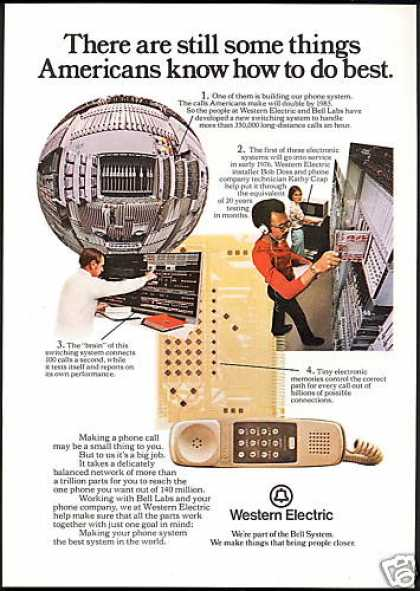 Western Electric Bell Telephone Americans Best (1975)