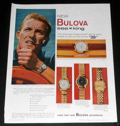 Bulova, Man's Sea King Watches (1959)