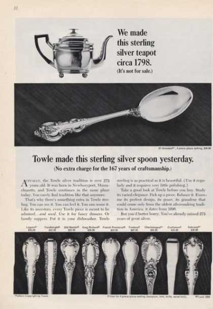 Towle Sterling Teapot Spoon Patterns (1965)