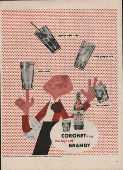 Coronet V S Q Highball Brandy (1946)