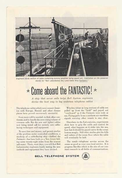 Bell Telephone Dry Land Cable Ship Fantastic (1960)