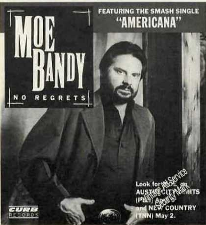 "Moe Bandy Photo ""No Regrets"" Album (1988)"