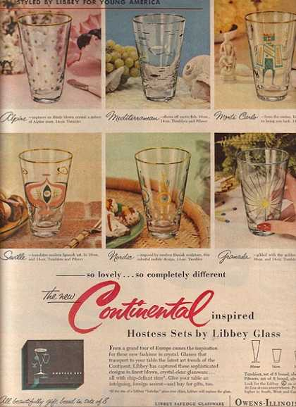 Libbey's Continental inspired Hostess Sets (1955)