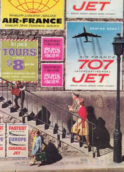Air France Travel Street Scene (1959)
