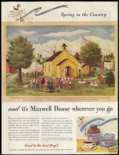 Maxwell House Coffee Arbor Day Doris Lee Art (1946)
