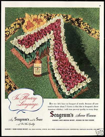Tulip Flowers Seagram's 7 Crown Whiskey (1947)
