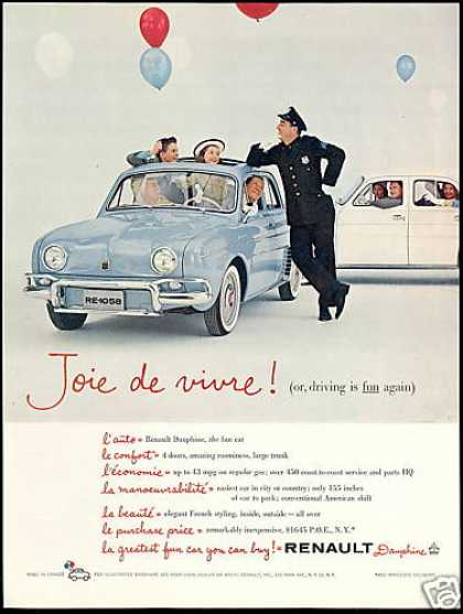 Renault Dauphine 2 Cars Police (1958)