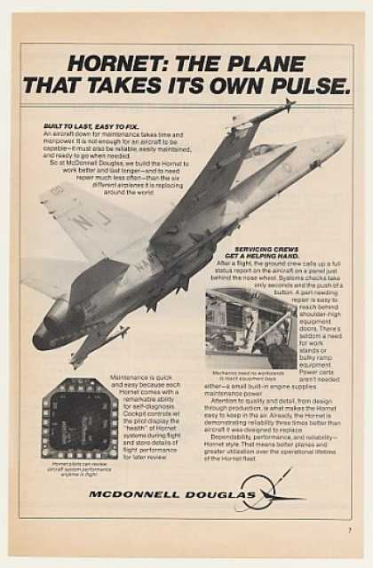 McDonnell Douglas Hornet Aircraft Takes Pulse (1982)