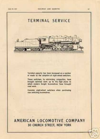 Alco Locomotive Ad Heavy 0-8-0 Switchers (1917)