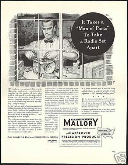 Radio Receiver Service Engineer PR Mallory (1940)