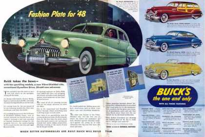 Buick Two Page Car – four cars – Sold (1948)