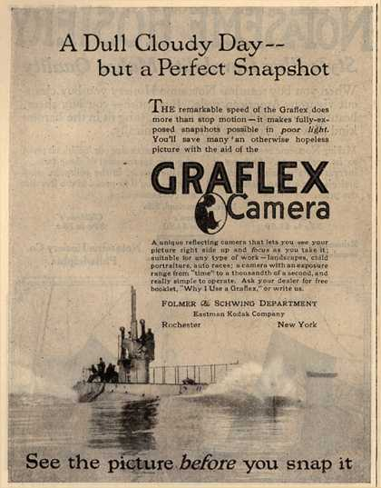 Kodak's Graflex cameras – A Dull Cloudy Day – but a Perfect Snapshot (1918)