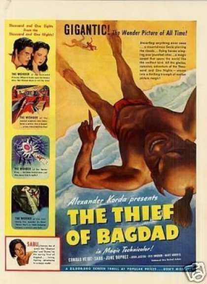 "Movie Ad ""The Thief of Bagdad"" (1940)"