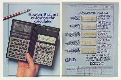 Hewlett-Packard HP 28C Calculator Blueprint 2-P (1987)