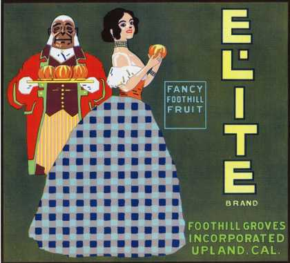 Upland, California, Elite Brand Citrus Label