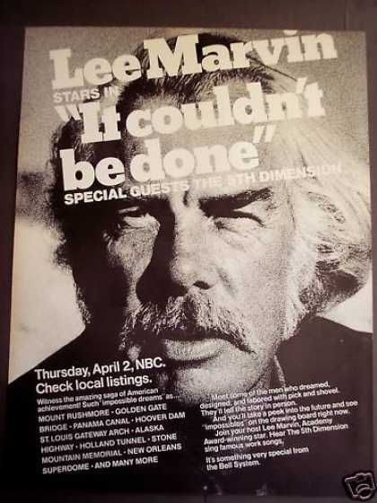 Lee Marvin It Couldn't Be Done Tv Show Promo (1970)
