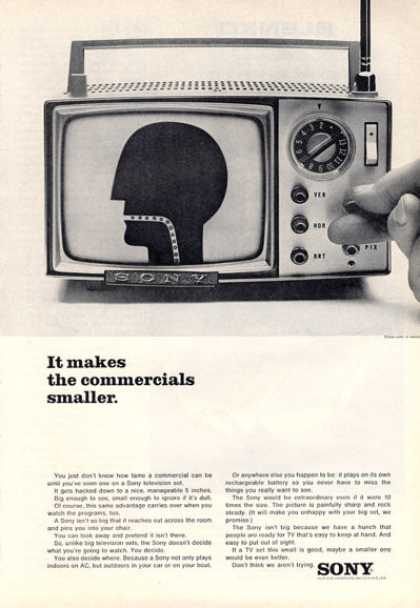 Sony Portable Tv Television (1964)