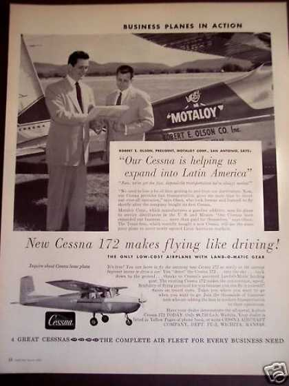 Cessna 172 Airplane By Motaloy Corp (1956)