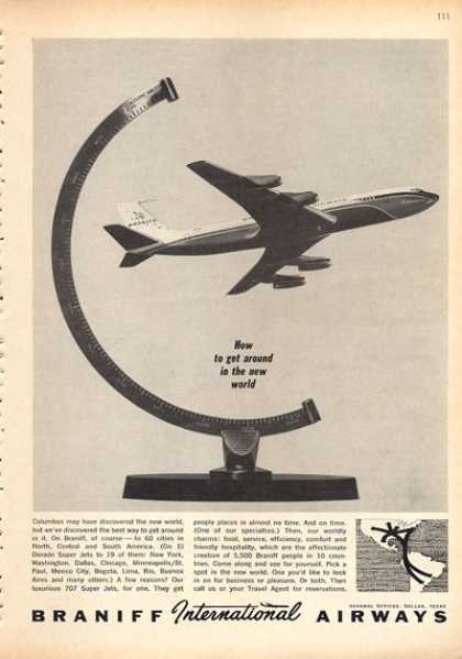 Braniff International Airways Airplane Jet (1963)
